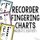 Recorder Fingerings ~ Brights Edition