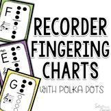 Recorder Fingering Charts ~ Polka Dot Edition