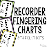 Recorder Fingering Charts ~ Polka Dot Edition