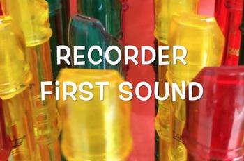 Recorder First Sound