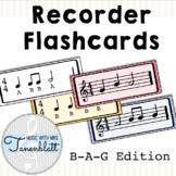 Recorder Flashcards: BAG