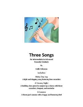 Recorder/Flute Bundle - Three Songs, Including One with Percussion!