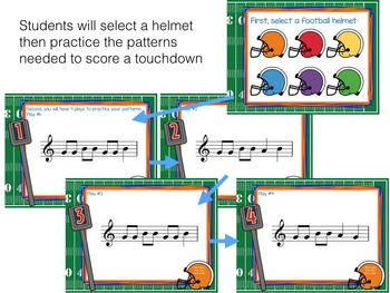 Recorder Football, a Game to Practice BAG patterns and songs
