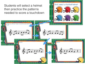 Recorder Football, a Game to Practice BAGED patterns and songs