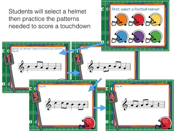 Recorder Football, a Game to Practice D'C'BAG patterns and songs