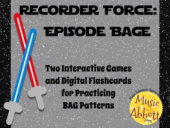 Recorder Force, Two Games and Digital Flashcards for Recorder {BAGE Edition}