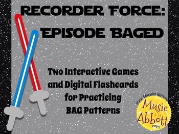 Recorder Force, Two Games and Digital Flashcards for Recorder {BAGED Edition}