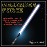 Recorder Force, Games and Digital Flashcards for Recorder {Bundled Set}