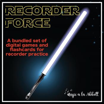 Recorder Force, Games and Digital Flashcards for Recorder {Bundled Set}