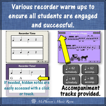 Recorder Fun with Notes BAG {Interactive Bundle for soprano recorder}