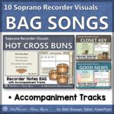 Soprano Recorder Songs ~ Interactive Visuals {Notes BAG} Bundle