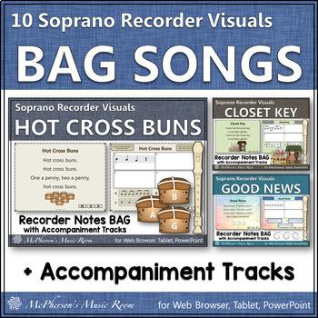 Recorder Fun with Notes BAG {Interactive Bundle for sopran