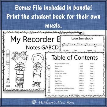 Recorder Fun with Notes GABCD {Interactive Bundle for soprano recorder}