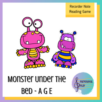 Recorder Game - Reading G E A on the Staff - Monster Under the Bed