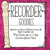 Recorder Goodies: Letters and Organization Forms