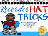 Recorder Hat Trick: an interactive game for Recorder Practice BAGED