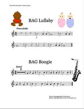 Recorder Interactive: BAG Songs 2 with Performance Tracks
