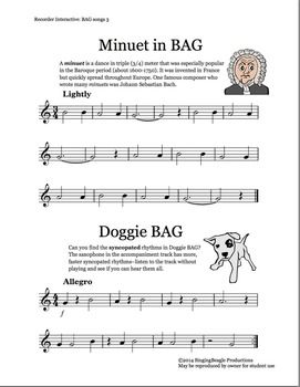 Recorder Interactive: BAG Songs 3 with Performance Tracks