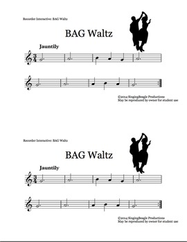 Recorder Interactive: BAG Waltz with Performance Track