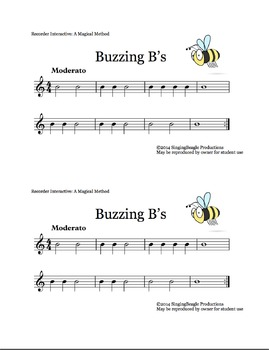 Recorder Interactive: Buzzing B's, a single-note song with performance track!