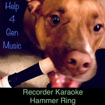 Help4GenMusic's Recorder Karaoke - Hammer Ring with rock band!