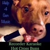 Recorder Karaoke - Hot Cross Buns (awesome rock band accom