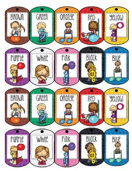 Recorder Belt Brag Tags! (Color or Encouragement Tag lines)