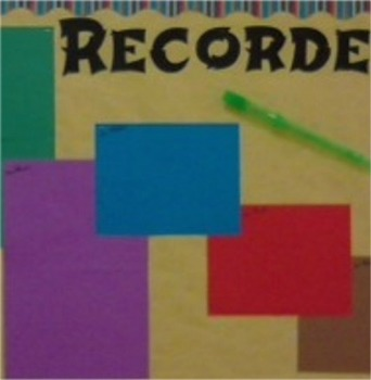 Recorder Karate Bulletin Board Idea