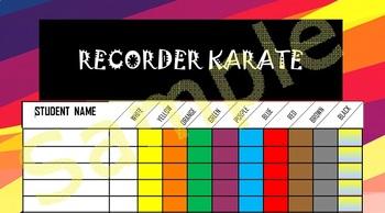 Recorder Karate Checklist