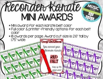 Recorder Karate / Dojo Volume 1 Brag Tags