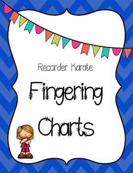 Recorder Karate Fingering - Chevron frames