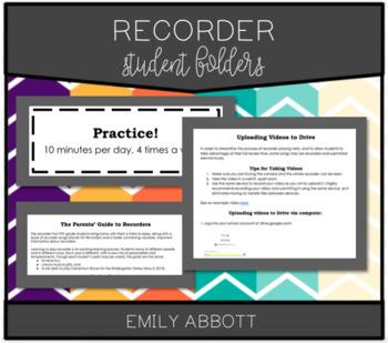 Recorder Karate Folders