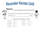 Recorder Karate Goal Sheet
