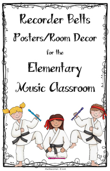 Recorder Belt Posters/Room Decor/Visuals - LARGE POSTER LEDGER (11X17) SIZE
