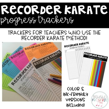 Recorder Karate Progress Trackers