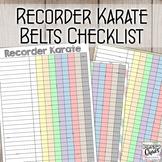 Recorder Karate Records Checklist (6 designs)