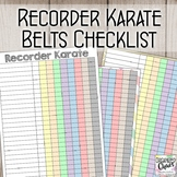 Recorder Karate Records Checklist (6 designs)