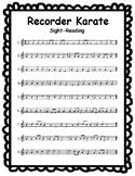 Recorder Karate Sight-Reading