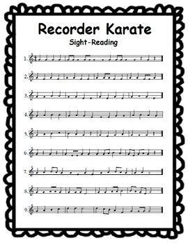 Recorder Karate Sight-Reading