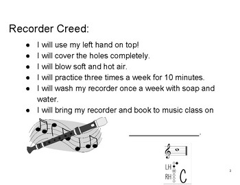 Recorder Karate Starting with C and A