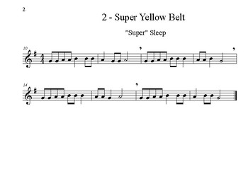 Recorder Karate - Super Belt Songs