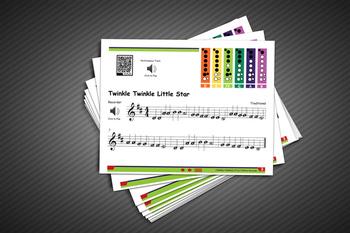 MUSIC: Recorder Kit - Twinkle, Twinkle Little Star w/ MP3