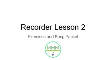 Recorder Lesson 2- B and A on the Music Staff