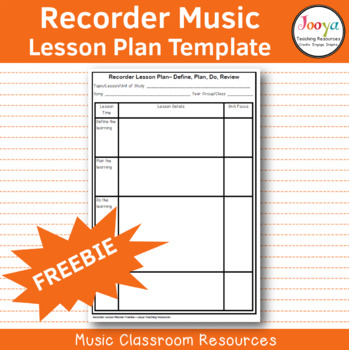 Recorder Lesson Planning Template