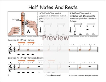 """Easy Note Value Lessons - """"A"""" Notes Rests and Gently Sleep"""