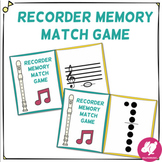 Recorder Center Memory Matching Game