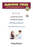 Recorder Music: Beginners - 5.. 4.. 3..