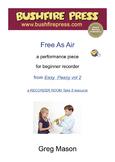 Recorder Music - Beginners: Free As Air
