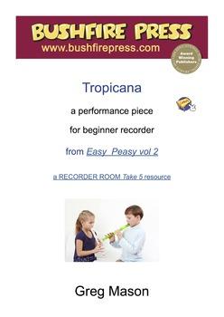 Recorder Music - Beginners: Tropicana