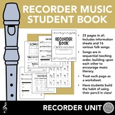 Student Recorder Music Book